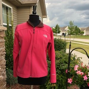 The North Face Apex Women's Pink & Brown Zip Up